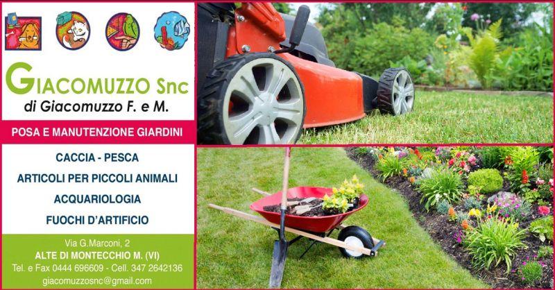 GIACOMUZZO SNC - Occasione servizio professionale posa e manutenzione giardini Vicenza