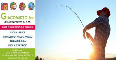 giacomuzzo occasione vendita articoli pesca spinning offerta articoli pesca sportiva vicenza