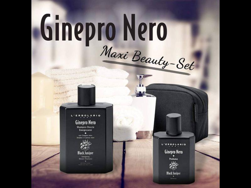 beauty set shampoo doccia e profumo Ginepro Nero L'Erbolario Terni