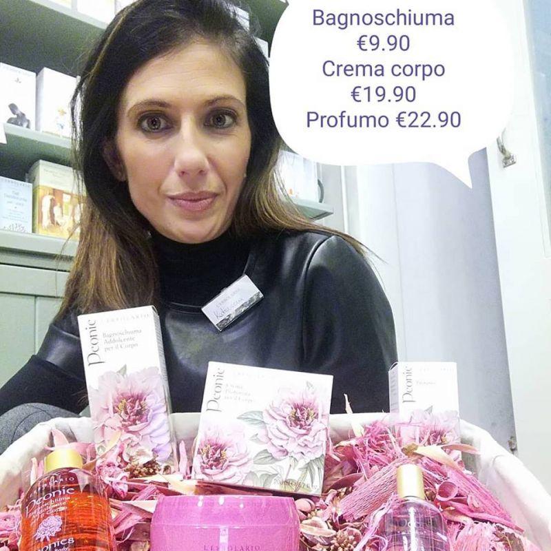 offerta bagnoschiuma crema corpo profumo Peonie-promozione bagnoschiuma crema corpo profumo