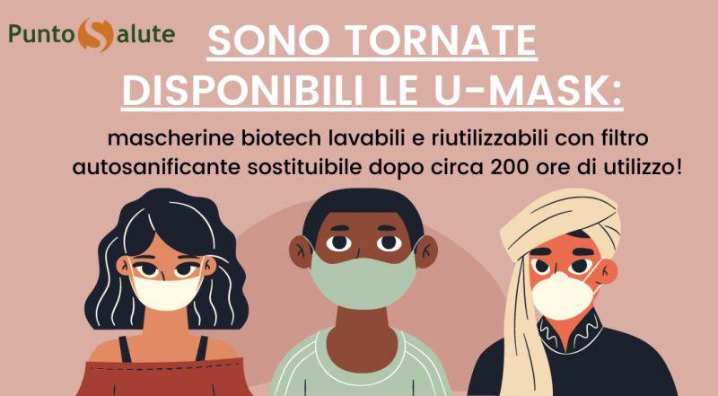 Occasione vendita mascherine biotech lavabili con filtro a Novara – Occasione mascherine con filtro autosanificante a Novara
