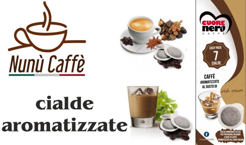 offerta vendita cialde aromatizzate cuore nero - occasione vendita cialde cuore nero nunù caffè