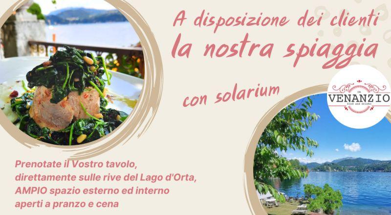 Occasione ristorante sul lago D'Orta con spiaggia privata a Novara  – offerta ristorante di pesce di lago a Novara