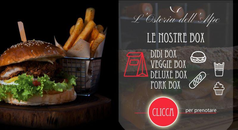 Offerta burger box consegna casa como - promozione burger consegna casa San Fedele Intelvi