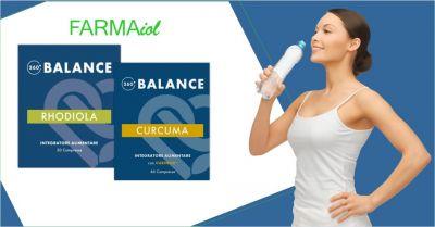 farmaiol parafarmacia offerta integratori alimentari 360 balance curcuma e rhodiola