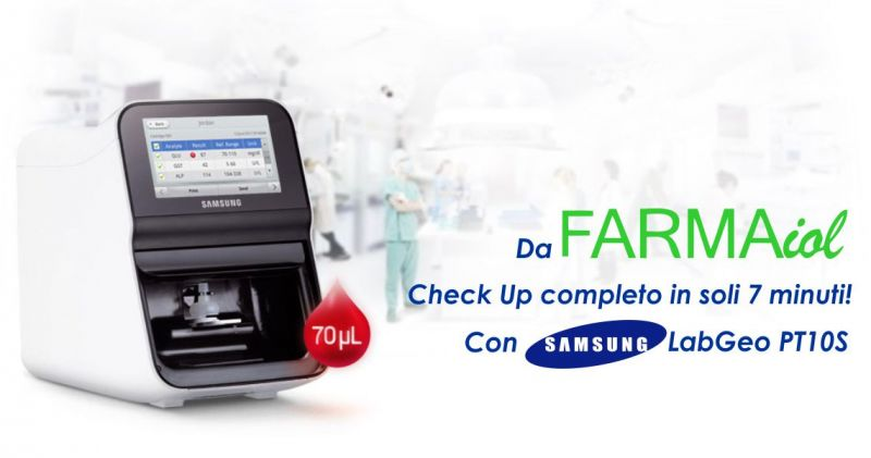 FARMAIOL PARAFARMACIA  - offerta esame valutazione profilo lipidico Samsung Labgeo PT10S