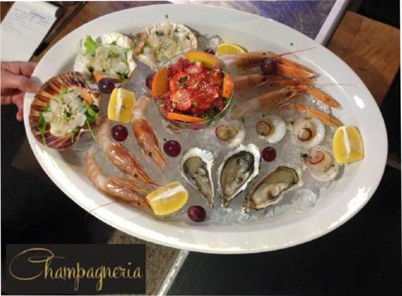 CHAMPAGNERIA & VINERIA offerta cena con crudità di mare trieste