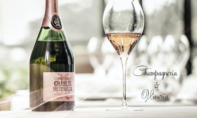 CHAMPAGNERIA e VINERIA offerta aperitivo con champagne crudite di mare - promo eventi esclusivi
