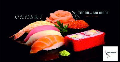 tonno salmone sushi offerta mangiare sushi promozione ristorante sushi macerata