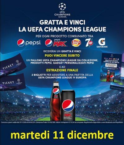 evento champions league sponsor pepsi con hostess ed estrazione premi