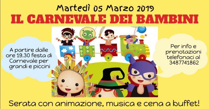 offerta festa di carnevale per bambini - occasione festa di carnevale al ristorante a Terni
