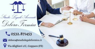 offerta avvocato specializzato in diritto fallimentare occasione consulenza legale per fallimenti ferrara