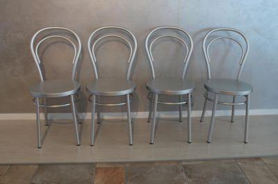 sedia madame al in alluminio anodizzato esse design