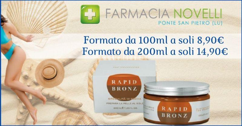 occasione prodotti abbronzanti per intensificare l abbronzatura Lucca - FARMACIA NOVELLI