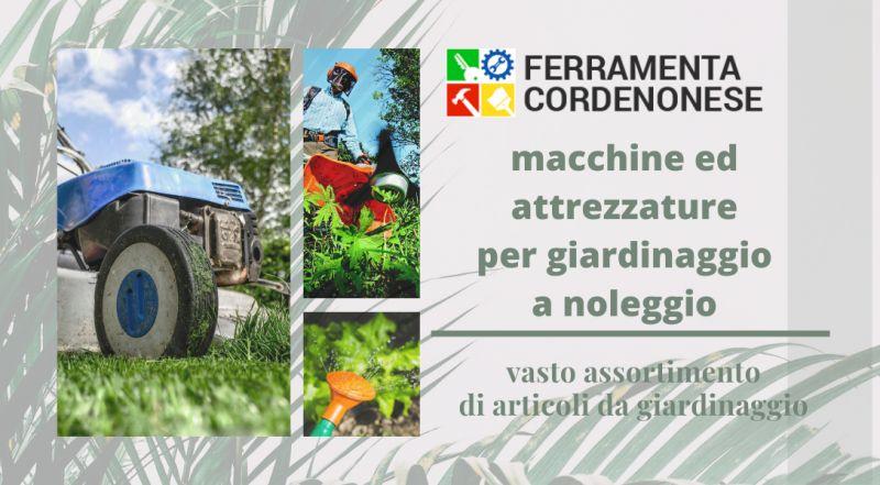 Occasione noleggio e vendita attrezzatura per il giardino e giardinaggio e Pordenone – Vendita sementi per l'orto on line a Pordenone