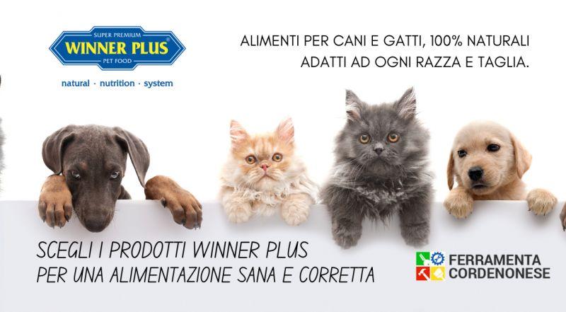 Vendita cibo per cani a gatti winner plus a Pordenone – Occasione alimenti per animali cane e gatto naturali al 100% a Pordenone