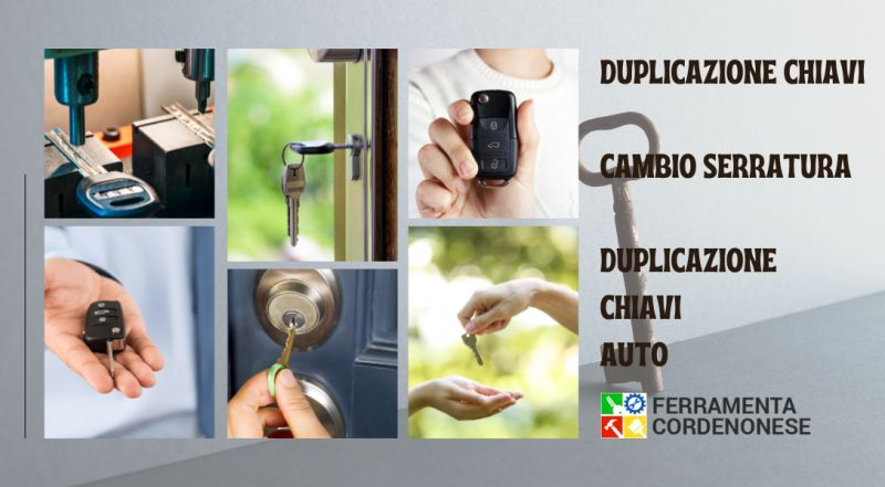 Offerta ferramenta specializzata in duplicati chiavi casa e auto a Pordenone – occasione ferramenta specializzata nel cambio di serrature a Pordenone