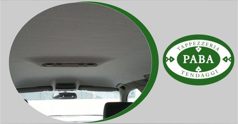 Paba tappezzeria e tendaggi - offerta servizio riparazione cieli auto