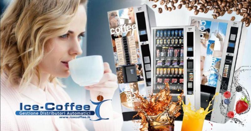 ICE COFFEE - Offerta servizio fornitura distributori bevande calde fredde provincia di Verona