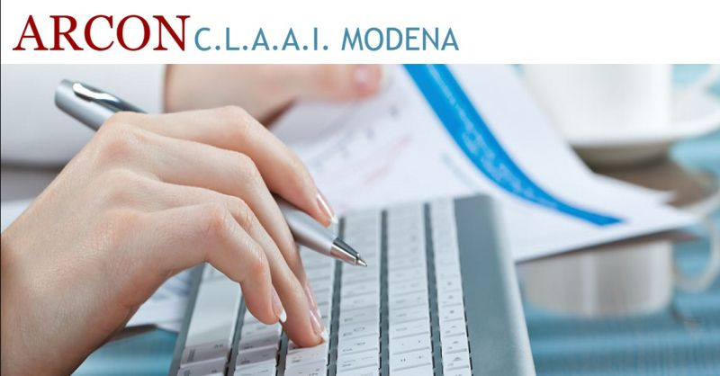 ARCON C.L.A.A.I. offerta tenuta libri paga a Modena - occasione consulenza del lavoro a Modena
