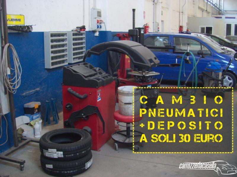 CARROZZERIA CASELLA offerta cambio pneumatici - promozione cambio gomme con deposito