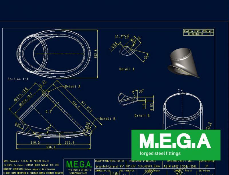 MEGA spa reparto ingegneria - promozione progettazione e realizzazione raccordi