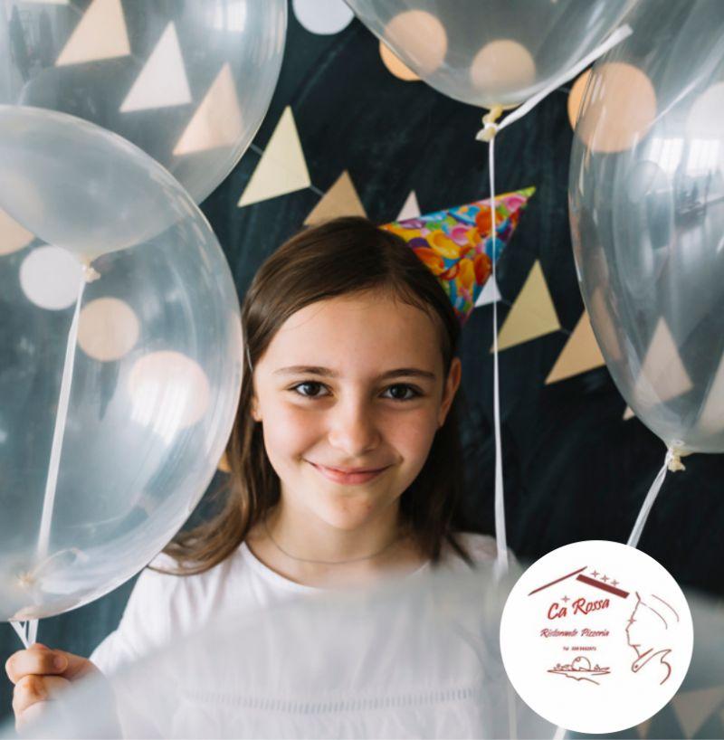 RISTORANTE PIZZERIA CA ROSSA offerta feste di compleanno per bambini ?