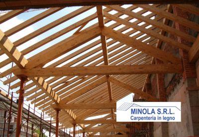 minola srl offerta progettazione tetti in legno promozione costruzione solette in legno