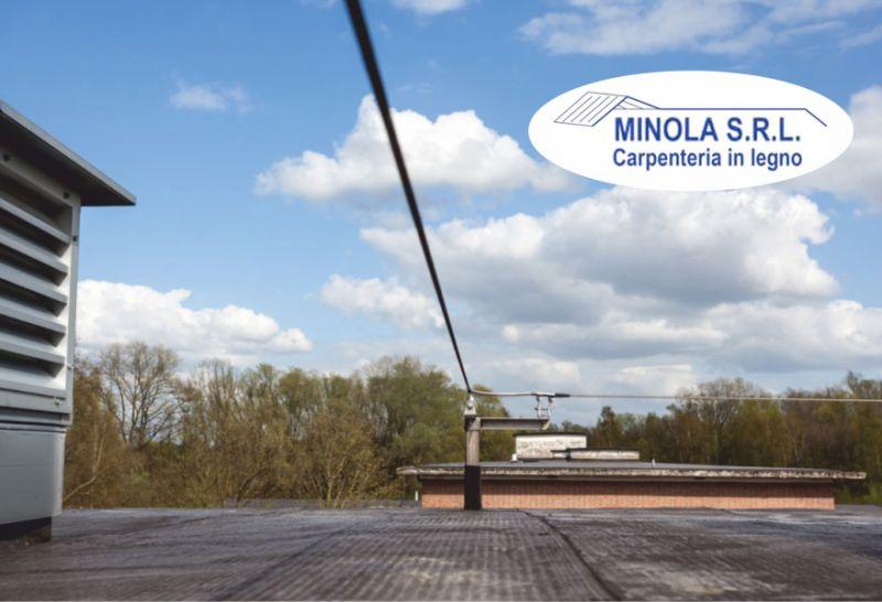 MINOLA SRL offerta installazione linee vita tetti - progettazione sistemi di sicurezza tetti