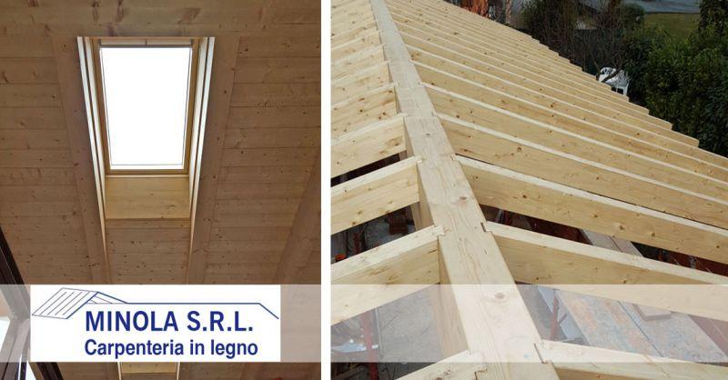 Carpenteria Minola – offerta realizzazione tetti in legno completi – promozione manto di copertura con tegole in clinker
