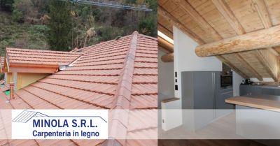 carpenteria minola offerta realizzazione tetti in legno coibentati promozione tetti in legno isolamento termico