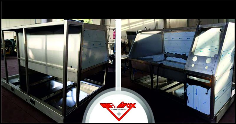 m.p inox costruzioni offerta carpenteria leggera banchi prova - occasione camere climatiche