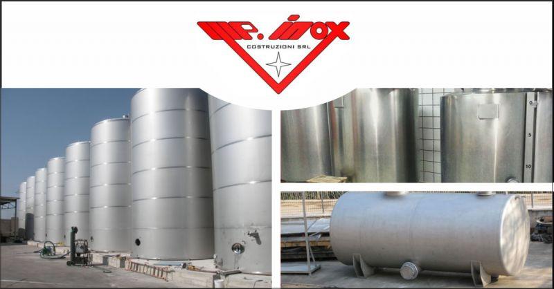 m.p inox offerta serbatoi in acciaio inox - occasione serbatoi per industrie perugia