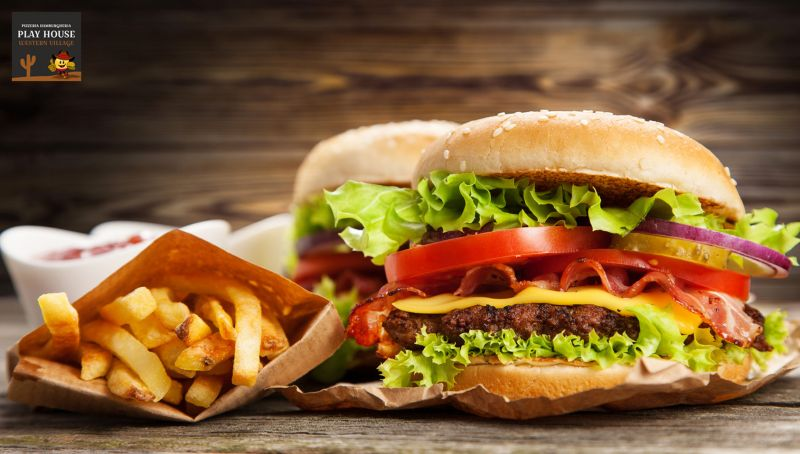 Offerta pizzeria hamburger patatine bari - promo western box pizzeria play house modugno