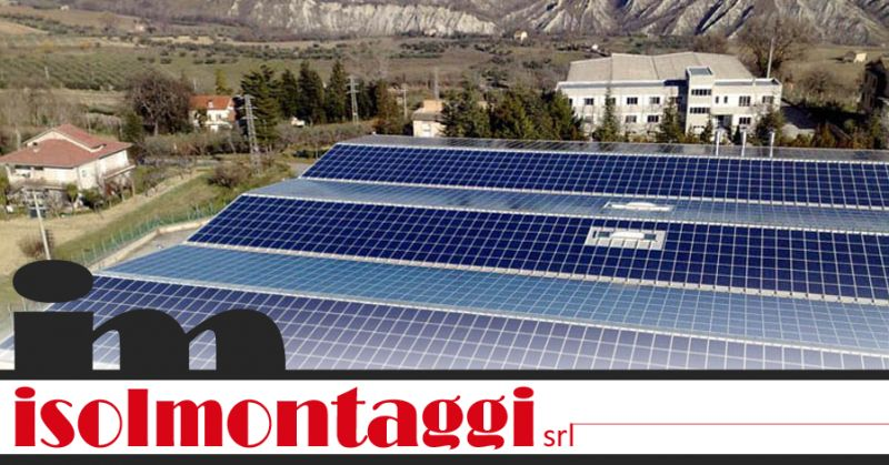 ISOLMONTAGGI SRL - offerta posa impianti fotovoltaici pescara