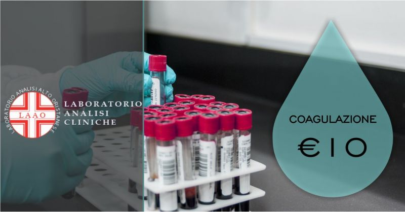 LAAO laboratorio analisi Abbasanta  - offerta check up coagulazione