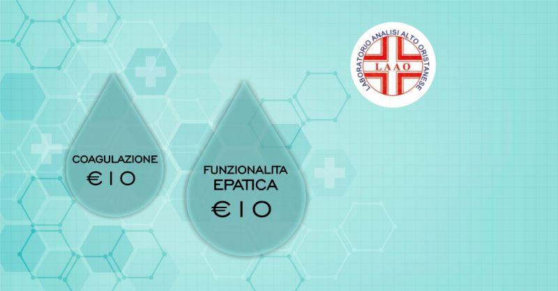 LAAO laboratorio analisi Abbasanta  - offerta check up funzionalita epatica e coagulazione
