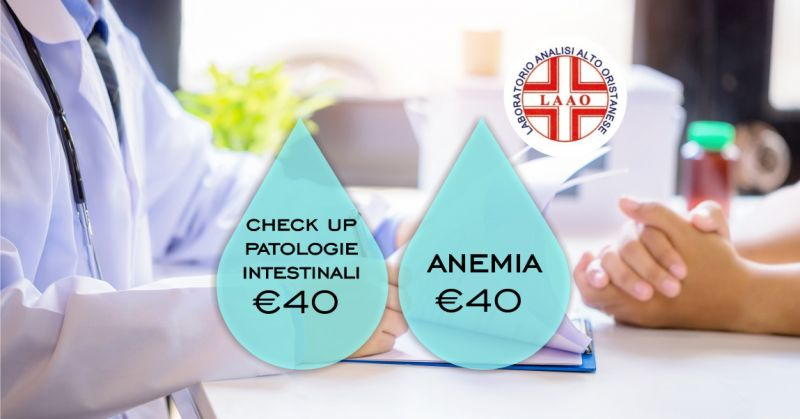 LAAO laboratorio analisi Abbasanta  - offerta check up patologie intestinali e anemia