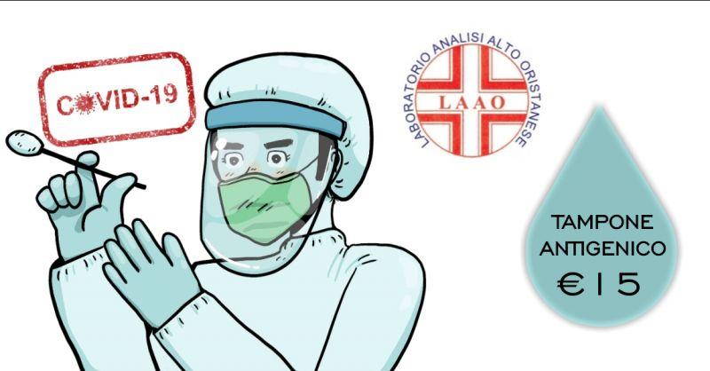 LAAO laboratorio analisi - offerta tampone antigenico valido per green pass 15 euro