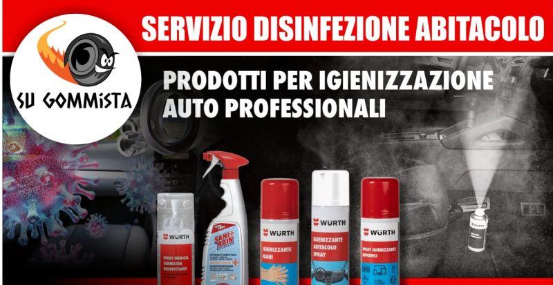 SU GOMMISTA RIOLA SARDO - offerta servizio di sanificazione auto con ozono e prodotti Wurth