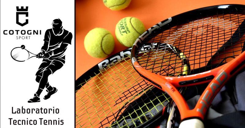 Promozione manutenzione racchetta da tennis Terni - offerta laboratorio specializzato tennis