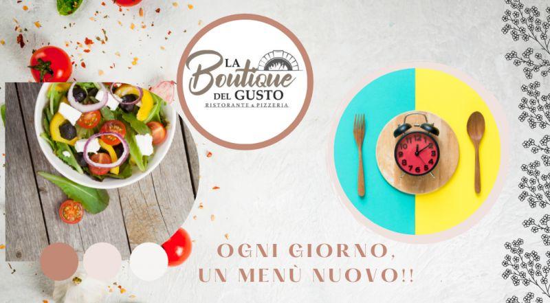 Occasione ristorante con menù pizza o menù ristirante da asporto a Novara - offerta ristorante con posti all'esterno con plateatico a Novara