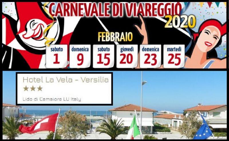 Hotel La Vela - Occasione vacanze albergo 3 stelle fronte mare in Versilia Carnevale Viareggio