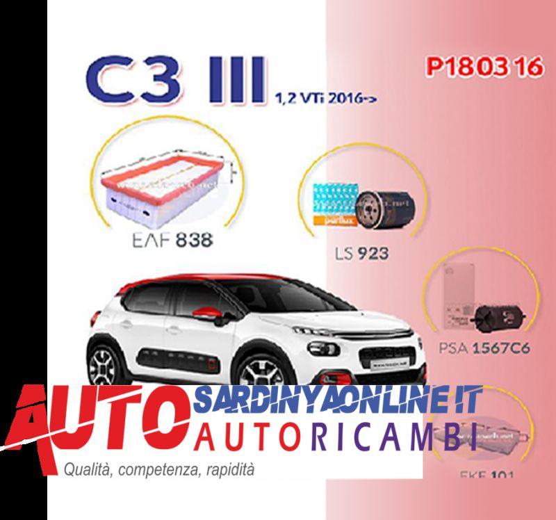 offerta Super Kit Filtri Citroen C3 IIII Serie Dal 2016 1,2 Vti