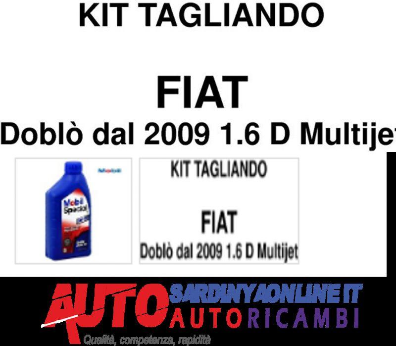 offerta KIT TAGLIANDO 4 FILTRI FIAT DOBLO' 1,6 MULTIJET DAL 2009