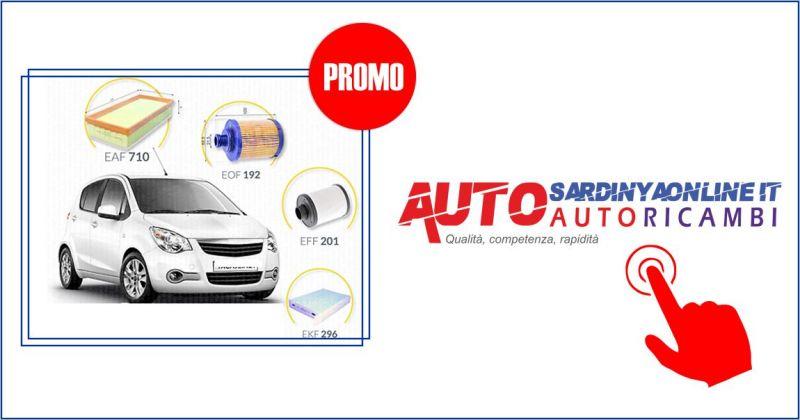 Essemme autosardinyaonline  - offerta kit 4 filtri per tagliando Opel Agila II serie 1.3 CDTI