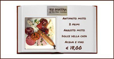 la cantina trattoria pizzeria offerta ristorante con menu fisso di carne ragusa