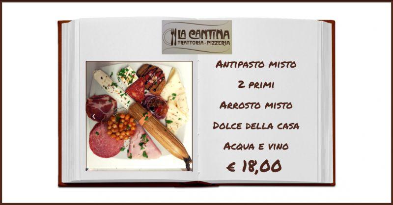 LA CANTINA TRATTORIA PIZZERIA - offerta ristorante con menu fisso di carne ragusa