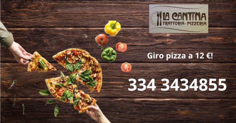 LA CANTINA TRATTORIA PIZZERIA - offerta menu fisso con pizza a 10 euro vittoria