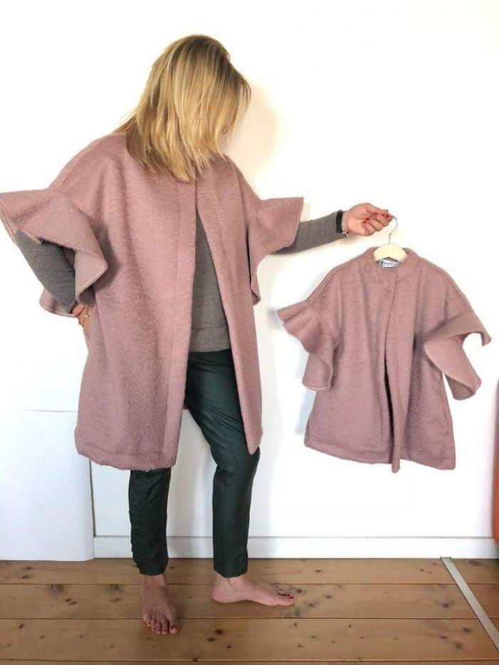 Cappottino bimbo rosa antico handmade metà prezzo